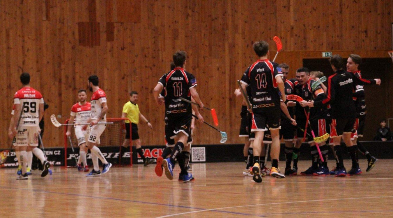 A-tým podlehl vysoko Ústí a v předkole Play-Off vyzve Florbal Havířov
